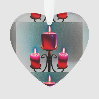 Weihnacht, adviento, candelas ardientes rojas feri