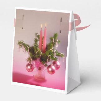 Weihnacht, adviento, candelas ardientes rosas feri cajas para detalles de boda