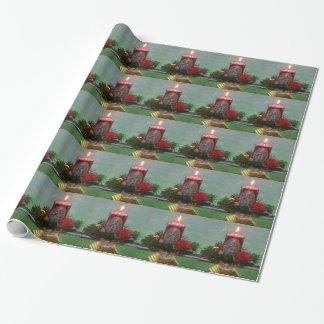 Weihnacht, adviento, móvil ardiente rojo candela papel de regalo