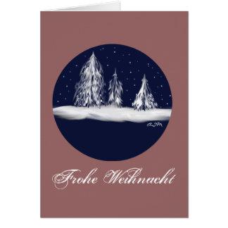 Weihnacht alegre abetos text azul - your felicitacion