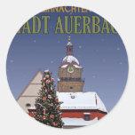 Weihnachten en Auerbach Etiquetas Redondas