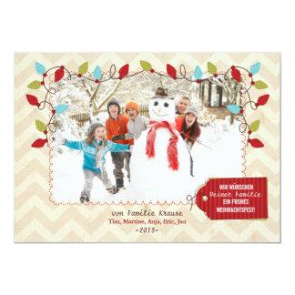 Weihnachten Foto-Karte Card