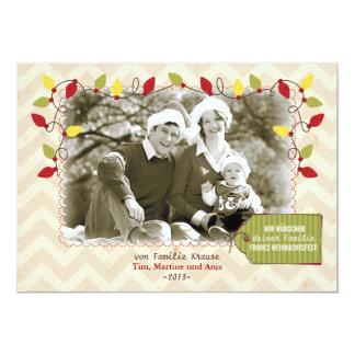 """Weihnachten Foto-Karte Grußkarte Invitación 5"""" X 7"""""""