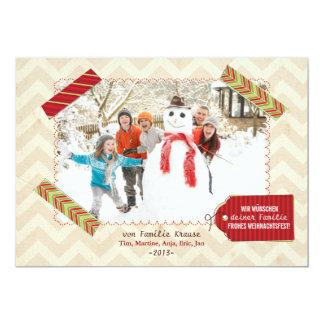"""Weihnachten Foto-Karte Invitación 5"""" X 7"""""""