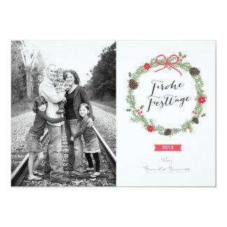 Weihnachten Kranz Foto-Karte Card