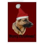 """Weihnachten """"Schäferhund """" Tarjeta De Felicitación"""