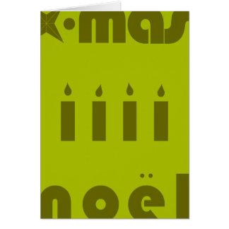 weihnachten, x-mas, noel tarjeta de felicitación