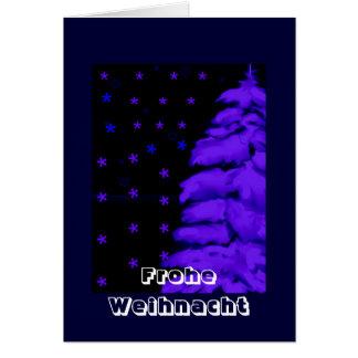 Weihnachtkarte abeto azul+ Estrellas - your text
