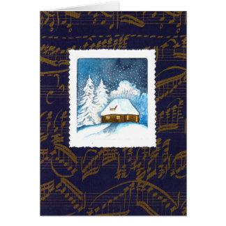 """Weihnachts acuarela diseño """"casita en la nieve """""""