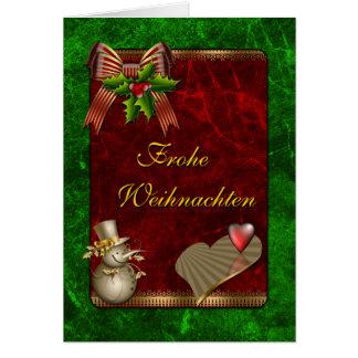 Weihnachts Design mit Schneemann und Herz Greeting Cards