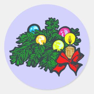 Weihnachtsgesteck flower arrangement christmas sticker