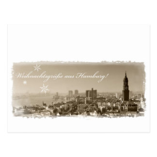 Weihnachtsgrüße de Hamburgo, Tarjeta de navidad, p Tarjeta Postal