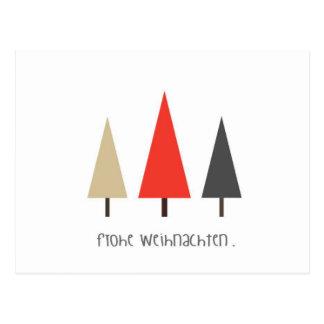 Weihnachtskarte Bäume Postcards