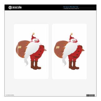 Weihnachtsmann Nikolaus Santa Claus Skin For Kindle Fire