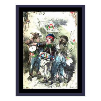 Weihnachtsmarkt Children Musical March Postcard