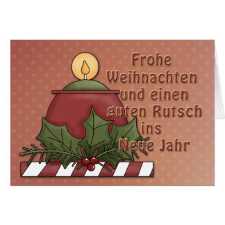 Weihnachtsmotiv mit Kerze Card