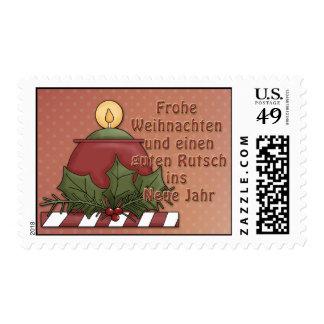 Weihnachtsmotiv mit Kerze Postage Stamps
