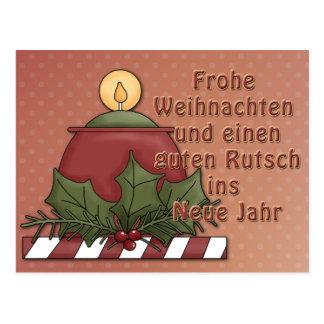 Weihnachtsmotiv mit Kerze Post Card