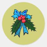 Weihnachtsschleife christmas bow sticker
