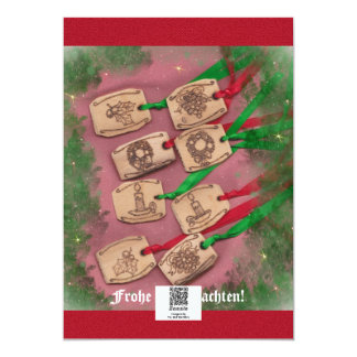 Weihnachtszauber nostalgische Weihnachts Card