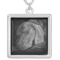 Weim Dreams Silver Plated Necklace