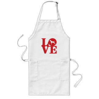 WEIM LOVE LONG WHITE APRON