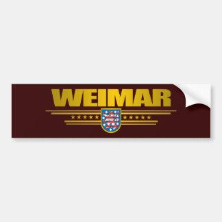 Weimar Bumper Sticker