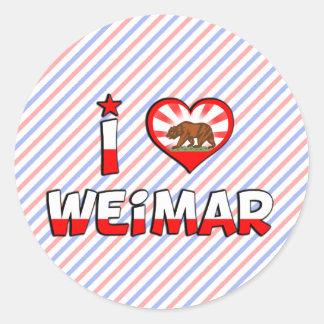 Weimar CA Round Sticker