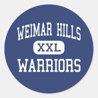 Weimar Hills Warriors Middle Weimar Round Stickers