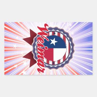 Weimar TX Rectangle Sticker