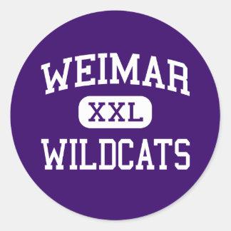 Weimar - Wildcats - Junior - Weimar Texas Round Sticker