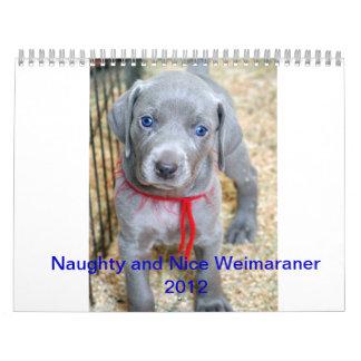 weimaraner 2012 calendar