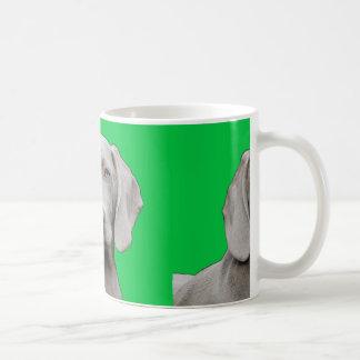 weimaraner 2 coffee mug