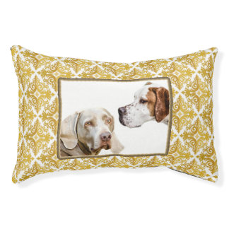 Weimaraner and pointer photo dog bed