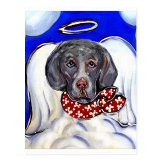 Weimaraner Angel Post Card