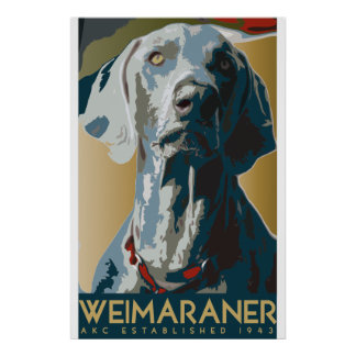 Weimaraner Art Dec Poster