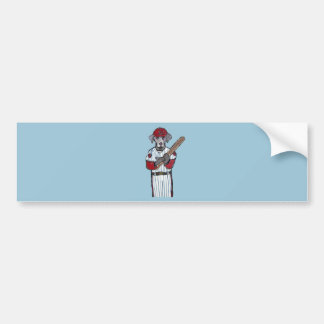 WEIMARANER BASEBALL PLAYER BUMPER STICKER