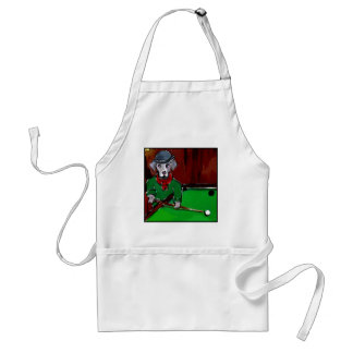 WEIMARANER BILLIARDS ADULT APRON