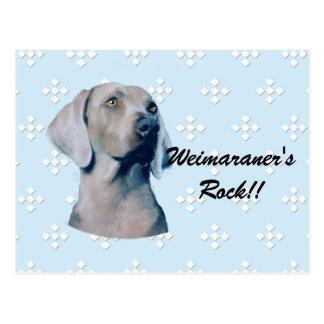 Weimaraner - Blue w/ White Diamond Design Postcard