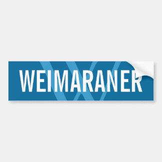 Weimaraner Breed Monogram Design Bumper Sticker