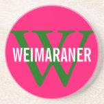 Weimaraner Breed Monogram Design Coaster