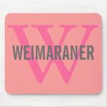 Weimaraner Breed Monogram Design Mouse Pad