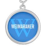 Weimaraner Breed Monogram Design Pendants