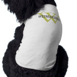 Weimaraner Breed Monogram Design Shirt