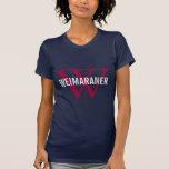 Weimaraner Breed Monogram Design T-Shirt