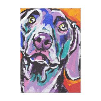 Weimaraner Bright Colorful Pop Dog Art Canvas Print