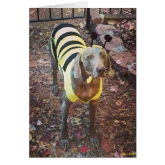 Weimaraner Bumblebee Stationery Note Card