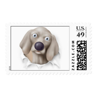 Weimaraner Busting Out - Customized Postage