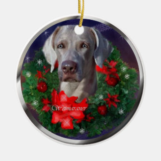 Weimaraner Christmas Gifts Ornament
