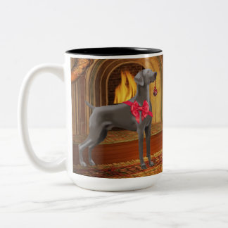 Weimaraner Christmas Mug